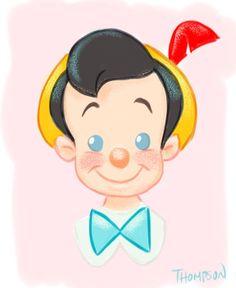 Little wooden head. Pinocchio by Steve Thompson