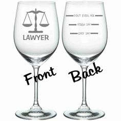 Somedays call for this #lawyer #humor #wine #glass