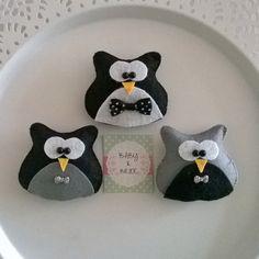 Elyaf dolgulu Gelin baykuşlar / Fiber filled Bride Owl magnet souvenir for weddings