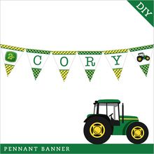 Tractor Party Pennant Banner (Digital File)