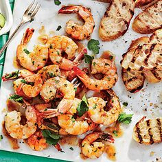 Buttery Garlic Shrimp - Southern Shrimp Recipes - Southern Living