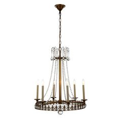 Leonardo 6 Light Crystal Chandelier | Wayfair
