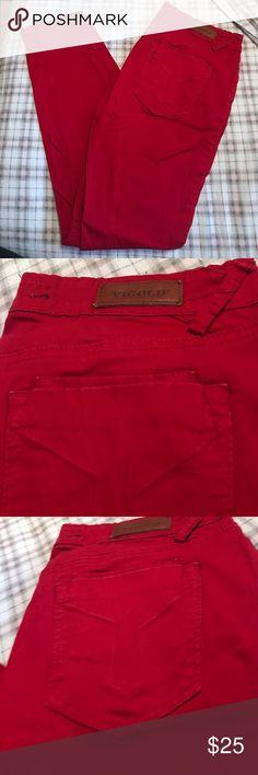 Skinny red jeans!! EUC, size 7/8 29 Vigold red skinny jeans!! Vigold Jeans Skinny