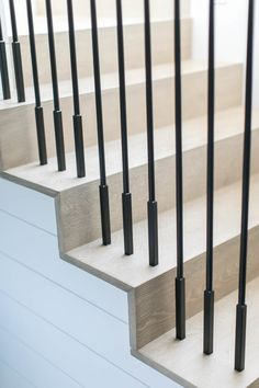 Newport Waterfront – Decor is art Metal Stair Railing, Stair Railing Design, Stair Handrail, Staircase Railings, Wood Stairs, House Stairs, Stairways, Cantilever Stairs, Stair Detail