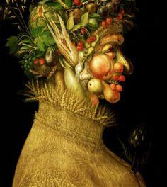 Giuseppe Arcimboldo Yaz Tarih: 1573 Orijinal Boyut: 76 x cm Yer: Musee du Louvre Paris Giuseppe Arcimboldo, Google Art Project, Art Amour, Vegetable Painting, Italian Paintings, Portraits, Art Plastique, Four Seasons, Art Google