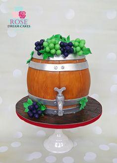 Wine Barrel Cake by Rose