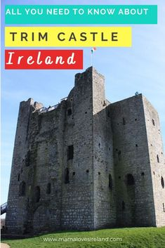 Fun facts about Trim castle and tips for visiting the biggest and best preserver Anglo Norman castle in Ireland Travel Around Europe, Cities In Europe, Ireland Vacation, Ireland Travel, Ireland Facts, Driving In Ireland, Norman Castle, Castles In Ireland, Famous Castles