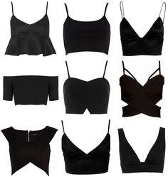 Crop Tops & Bralets (Victoria Törnegren) - Cropped - Ideas of Cropped - Crop Tops & Bralets Look Fashion, Diy Fashion, Ideias Fashion, Fashion Outfits, Womens Fashion, Fashion Trends, Origami Fashion, Fashion Black, Ladies Fashion
