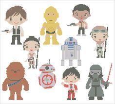 BOGO FREE Star Wars Heroes Force Awakens by Rainbowstitchcross