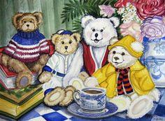Anne E. Shoemaker-Magdaleno  — Teddy Bear Tea  (900x622)