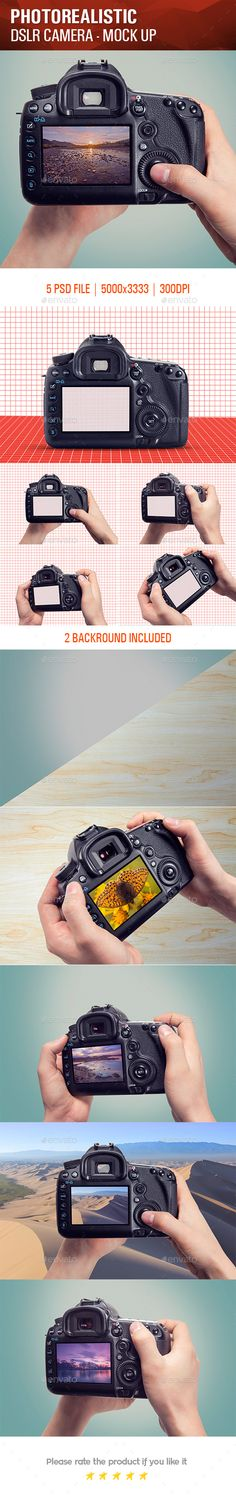 Photorealistic DSLR Camera Mock Up — Photoshop PSD #close-up #object • Available here → https://graphicriver.net/item/photorealistic-dslr-camera-mock-up/13900460?ref=pxcr
