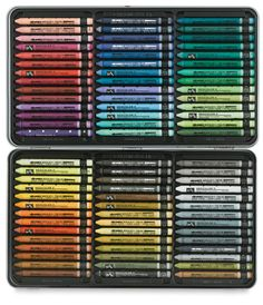 *want* Caran d'Ache Neocolor II set of 84. One day, maybe...