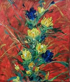 One Of A Kind Artwork Painting - Flowers In Your Room by Arturo Arboleda