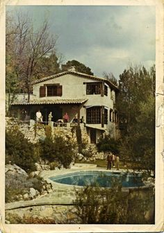 Our rented house was just on the outskirts of Tourette-sur-Loup in Provence. I'm somewhere in that picture my dad took in 1971...