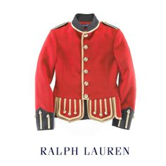Image issue du site Web http://themilitaryjacket.com/wp-content/uploads/2012/05/Ralph-Laurens-Red-Military-Jacket.png