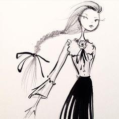 Last sketch of the night. #fashion #sketch #gucci #milanfashionweek #braid