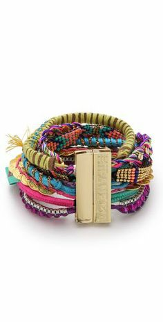 I wonder if there's a way to make something like this but out of old friendship bracelets. That's what this reminds me of.