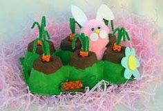 Easter craft using a card egg box