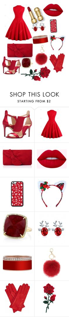 """red"" by dorota-kujawa ❤ liked on Polyvore featuring Nine West, L.K.Bennett, Leg Avenue, Anne Sisteron and Gizelle Renee"