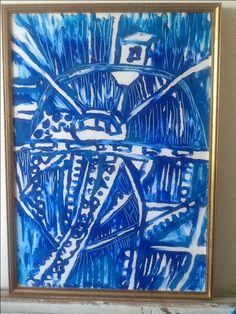 #art by #jeanettefyhr #fyhr #måleri #konst #tivoli #blå #blue