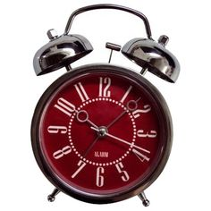 Double Bell Alarm Clock 6 Target Red Home Decor Room Essentials