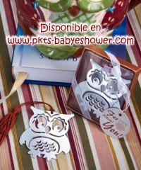 Recuerdos para Baby Shower - Separadores Buho - Disponible en www.pkts-babyshower.com