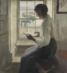 Harold Harvey (1874-1941)'the new book' #ArtLovers #twitart #art #painting Embedded image permalink