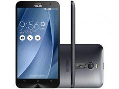 """Smartphone Asus ZenFone 2 16GB Prata Dual Chip 4G - Câm. 13MP + Selfie 5MP Tela 5.5"""" Full HD Quad Core"""