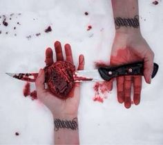 I gave you my heart, look, what you did with it.