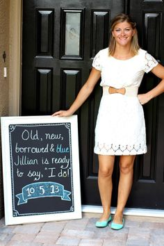 "Bridal shower. Maybe a decoration idea, is someone has a chalk board? Fits into the Vintage ""old new borrowed Blue"" Theme too!!   @catherine gruntman gruntman gruntman Greene"