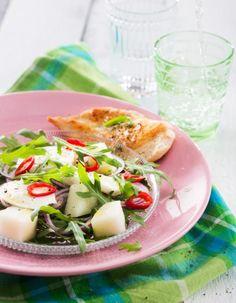Hunajameloni-mozzarellasalaatti | Salaatit | Pirkka