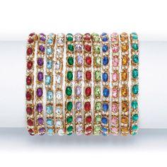 Birthstone-Color Tennis Bracelet