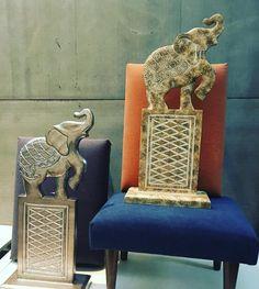 Elefantes nos trazem muita sorte! Você já tem um na sua casa? Estes são novos na loja. @juniocoqueiro @andreiadecora @amorimcleide