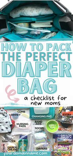 Toddler Diaper Bag, Best Diaper Bag, Baby Diaper Bags, Diaper Bag Checklist, Baby Checklist, Diaper Bag Organization, Baby Nursery Organization, Foster Mom, Foster Care