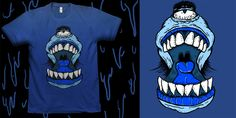 Mullet Monster - T-shirt design by RoboPickle - Mintees