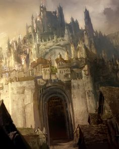 View an image titled 'Divinity's Reach Art' in our Guild Wars 2 art gallery featuring official character designs, concept art, and promo pictures. Fantasy City, Fantasy Places, Fantasy World, Tolkien, Hobbit, Guild Wars 2, Environment Concept Art, Environment Design, Shire