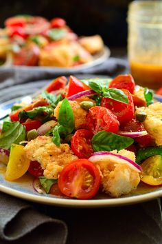 Panzanella is a simple, rustic Italian bread and tomato salad that bursts with flavour despite its humble ingredients and tasty vinaigrette.