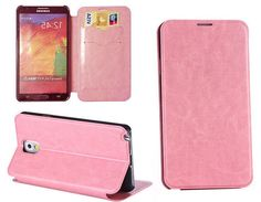 Amazon.com: myLife Precious Pink {Sleek Design} Faux Leather (Card, Cash and ID Holder + Magnetic Closing) Slim Wallet for Galaxy Note 3 Sma...