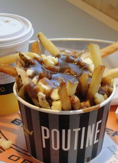 This Canadian comfort food can be considered a heart attack in a bowl. These loaded French fries are covered in thick gravy and topped with fresh cheese curds.