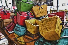 Colored Buckets by Travis Keyes on 500px