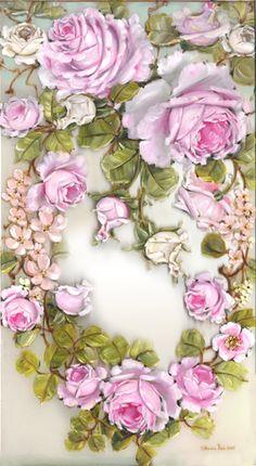 'Pink Rose Wreath'