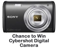 Chance to Win a Sony DSC-W670/B 16.1MP Cybershot Digital Camera with 2.7-Inch LCD Screen  This is for real!! I won a GPS in July 2012!!!!