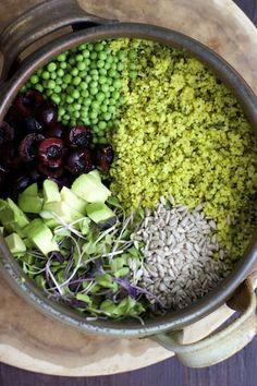 Broccoli and Millet Salad! #vegan #glutenfree