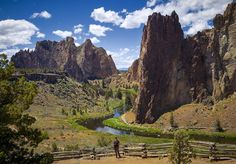 13 Hidden Gems In Oregon Most People Don't Know Even Exist.  Smith Rock State Park, near Redmond and Terrebonne