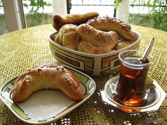 Kifle - Albanian butter crescents, often served with jam.