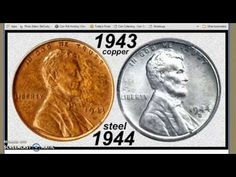 In 1944 the US mint accidentally produced some steel pennies. They are worth a lot of money! This video will show you how to check for these rare coins! Valuable Coins, Valuable Pennies, Steel Penny, Rare Pennies, Old Coins Worth Money, Show Me The Money, Big Money, Canadian Coins, Rare Stamps