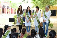 Miss Earth India 2016 finalists visit Navjyoti India Foundation