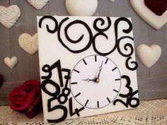 Tutoriel Horloge arabesques (Tableaux home déco) - Femme2decoTV