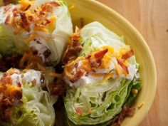 pioneer woman's Cheddar Bacon Wedge Salad.  This salad dressing is yummy!! I used milk, not buttermilk.
