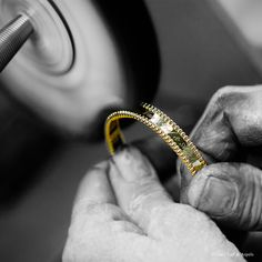 Van Cleef & Arpels #Perlee signature creations in yellow gold. The ultimate polishing of the Perlée signature bracelet